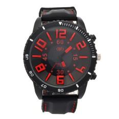 Yika Men's 3D Word Stainless Steel Wrist Watch (Red) (Intl)