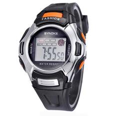 Yika Unisex Baby Boy Girl Sports Watch LED Digital PU Band Sport Quartz Wrist Watches (Black) (Intl)