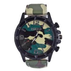 Yika Women Men Numerals Faux Leather Band Analog Quartz Wrist Watch (White)