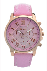 Yika Women's Leather Strap Watch 9298 (Pink) (Intl)