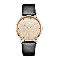 YJJZB Long Wave Business Simple Fashion Mens Watch Waterproof Quartz Leisure Trend Ultra-thin Ladies Watch Student Couples
