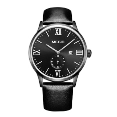 YJJZB MEGIR E-commerce Mountaineering Outdoor Sports Waterproof Luminous Three Men's Sports Watch Male Watch 2011AG (Black)
