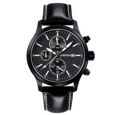 YJJZB Switzerland Ochstin Genuine New Men's Sports Watch Waterproof 6-pin Male Personality Watch Big Dial Leather (White)