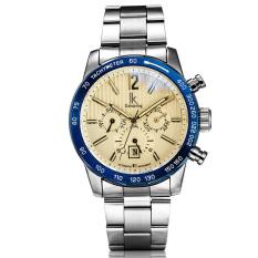 YJJZB The New IK Apa Qi Automatic Mechanical Watches Multifunction Men's Fashion Watch Waterproof Male Table 98203 (White)