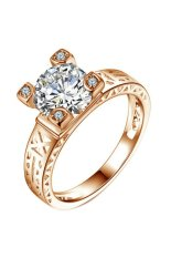 Yoursfs Charming Geometry White Gold Plated Women Fashion Ring
