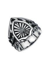 Yoursfs Titanium Steel Retro Rings (Silver)