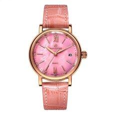 yugos Polaroid long watch Girls simple fashion genuine waterproof quartz sapphire steel strap watch (Pink) - intl