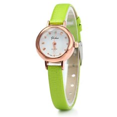 YUHAO Women Quartz Watch Slim Leather Band Bead Scales (Green)