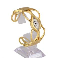 Zhouda Unique Design Women Skeleton Bracelet Watch Gold Luxury Dress Lady Watch - intl