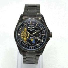 ZNPNXN Men's Fashion Six - Needle Tourbillon Blue Hollow Steel Men 's Mechanical Watches Table(Black)