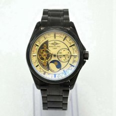ZNPNXN Men's Fashion Six - Needle Tourbillon Blue Hollow Steel Men 's Mechanical Watches Table(white)