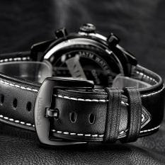 Zuigeili OCHSTIN Genuine Swiss Watch Male Sports Brand Luxury Watches Men's Waterproof Leather Quartz Watch 6-pin (Yellow) - Intl
