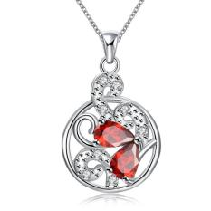 ZUNCLE 925 Silver Plated Necklace Design Pendant Necklaces Jewelry For Women (Gold) (Intl)