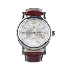 ZUNCLE Fashion Men's Quartz Wrist Watch W / Week / Calendar -1 x LR44 (White)