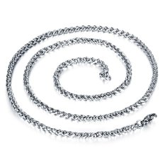 ZUNCLE Korea 316L Titanium Steel Women / Men / Unisex Necklace Jewelry Wholesale (Silver) &#8211.3 Mm x 500 Mm
