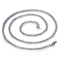ZUNCLE Korea 316L Titanium Steel Women / Men / Unisex Necklace Jewelry Wholesale (Silver) &#8211.4 Mm x 550 Mm