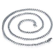 ZUNCLE Korea 316L Titanium Steel Women / Men / Unisex Necklace Jewelry Wholesale (Silver) &#8211.4 Mm x 600 Mm