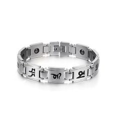Zuncle Korean Fashion Simple Gifts Wholesale Health Men's Titanium Steel Bracelet (Silver)