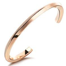 ZUNCLE Korean Simple Atmospheric Valentines WOMEN Titanium Steel Bracelet (Rose Gold)