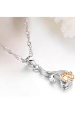 ZUNCLE Luxury Swiss Import Diamond Swan Necklace (Yellow)