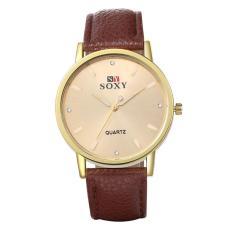 ZUNCLE Men Business Leather Band Quartz Wrist Watch (Brown)