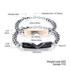 ZUNCLE Men Fashion Jewelry Simple Atmospheric Fine Student Titanium Steel Bracelet (Black) (Intl)