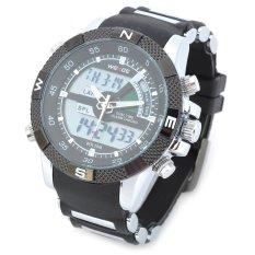 ZUNCLE Men's Resin Band Quartz Digital Analog Wrist Watch (Black)