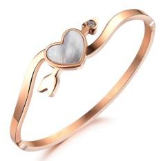 ZUNCLE Rose Gold Natural Shell Stone Mandrel Women Bracelet (Rose Gold)