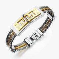 ZUNCLE Sports Strap Unisex Fashion Men's Titanium Steel Jewelry Bracelet Korean Gift (Gold / Silver)