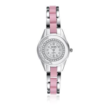 ZUNCLE Women Casual Crystal Quartz Wrist Watches (Pink)