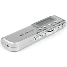 8G Usb Rechargeable Recorder Dictaphone Mp3 Player Digital Audio Voice New (Silver) (Intl)