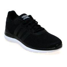 Adidas Cloudfoam Speed Sepatu Lari Pria - Hitam-Putih