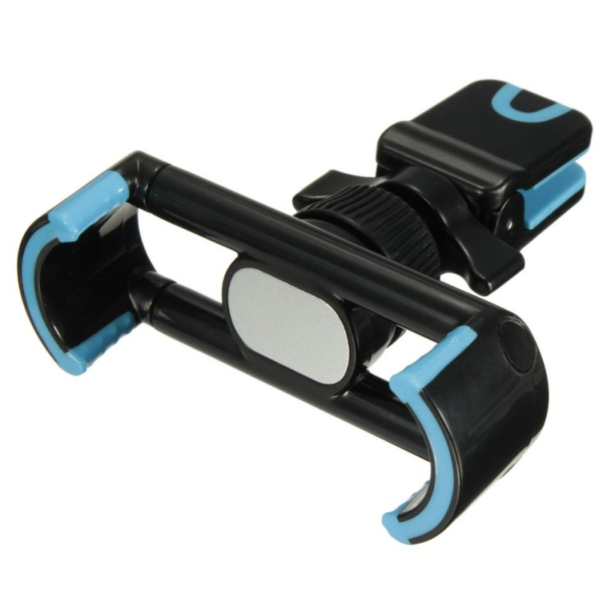 Adjustable 360°Clip Car Air Vent Holder Mount Stand For 50-80mm Mobile Phone GPS Black+Blue (Intl)