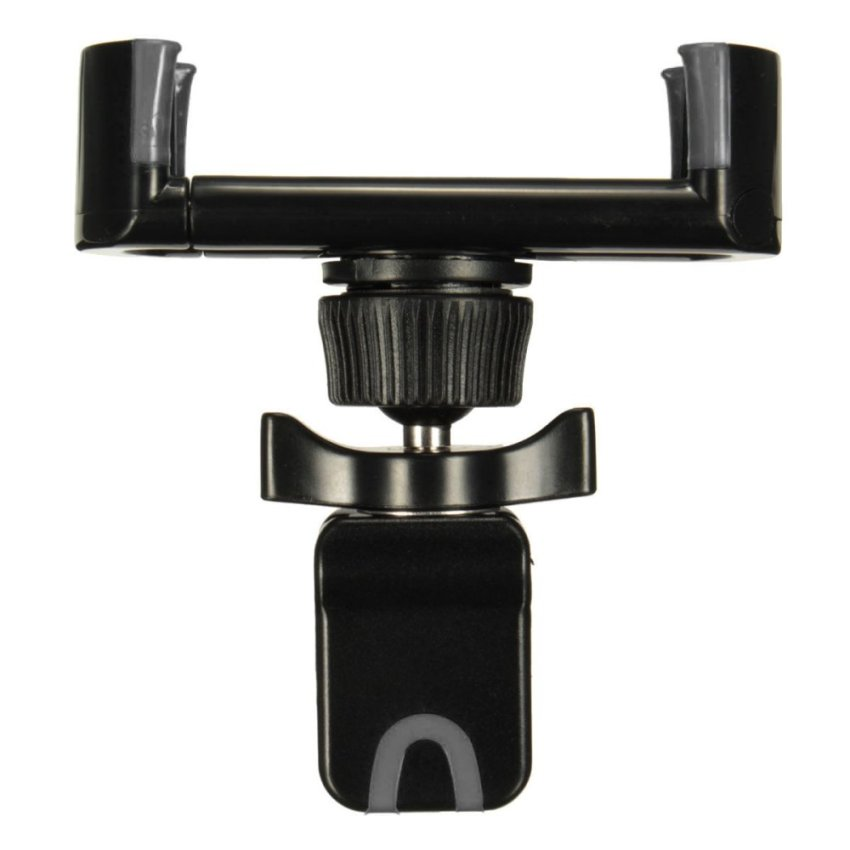Adjustable 360°Clip Car Air Vent Holder Mount Stand For 50-80mm Mobile Phone GPS Black+Grey (Intl)