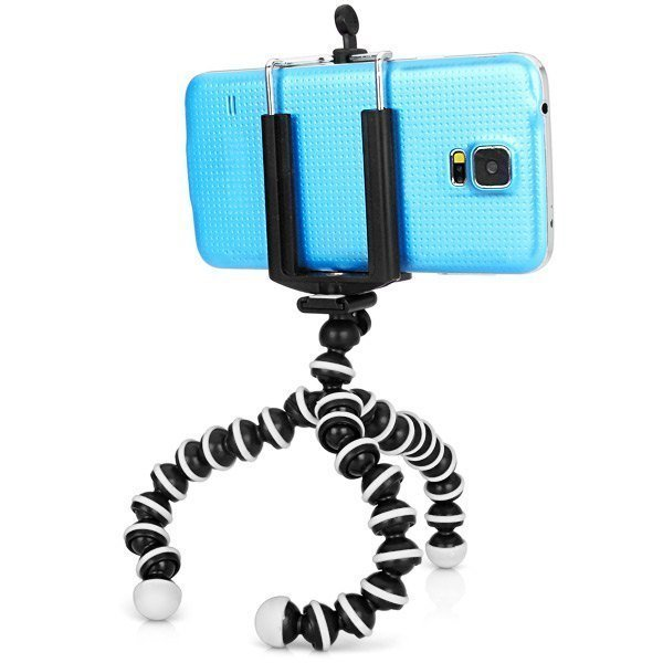Adjustable Cell Phone Tripod Bubble Octopus Stand with Mount Adapter for iPhone 4 4S 5 5S 5C Samsung Sony HTC (Intl)
