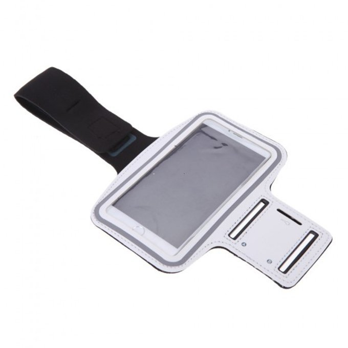 Adjustable Sport Gym Running Jogging Sweatproof Arm Band Case Cover Holder for iPhone 6 Plus White