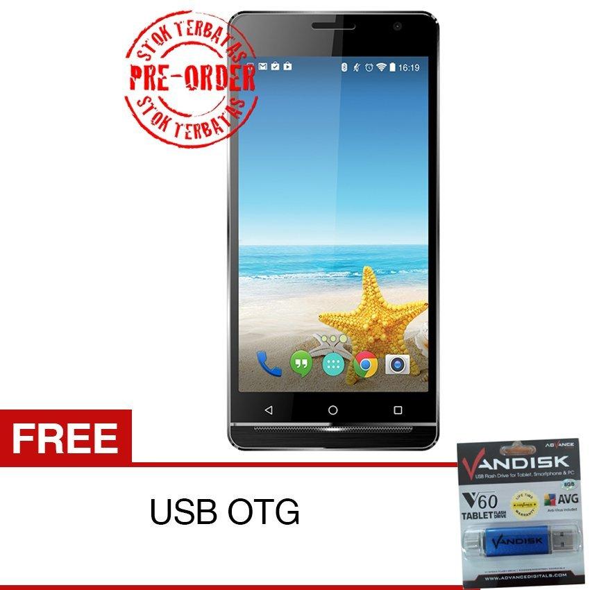 """Advan M6 Dual SIM - 5"""" - 16GB - Abu-abu + Gratis USB OTG - Pre Order"""