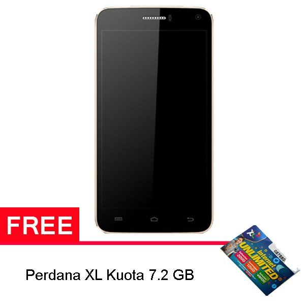 Advan S5J+ Super Thin - 8GB - Emas - Gratis XL Kuota 7.2 GB