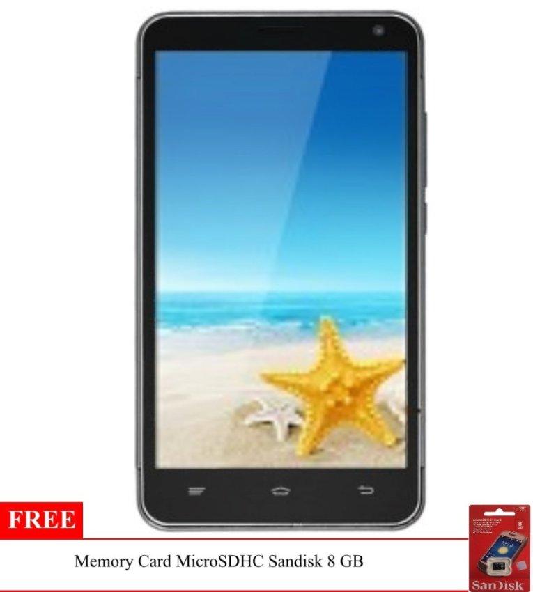 Advan Start Note S5L - 8 GB -  Grey + Gratis Memory Card Sandisk 8 GB