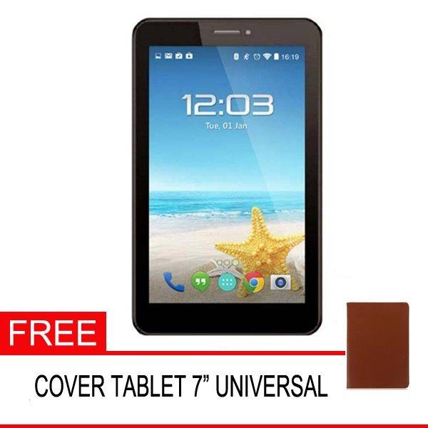Advan Vandroid E1C Pro Tablet - 1GB - Hitam + Gratis Cover Tablet Universal