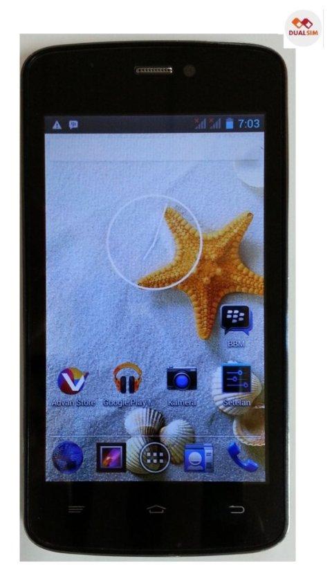 Advan Vandroid S4A - Dual SIM - Hitam