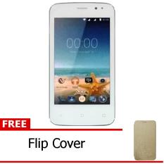 Advan Vandroid S4T - White + Free Flipcover Gold
