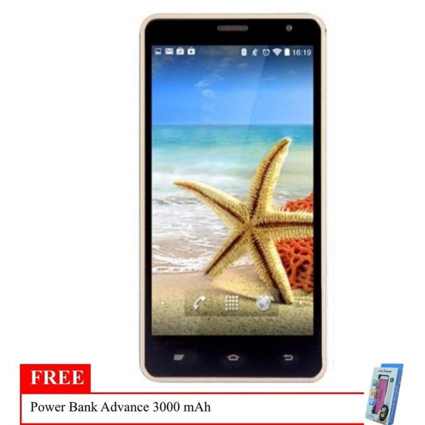 Advan Vandroid Star 5 S5M - 8GB - Gray + Free Powerbank Advance