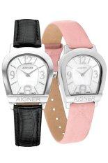 Aigner Amalfi II A32268B Black Leather Watches