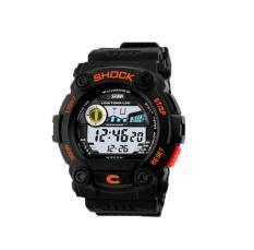 Akerfush SKMEI Unisex Fashion Multifunction Digital Wrist Watches (Orange)
