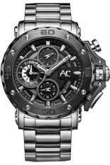 Alexandre Christie Collection - Jam Tangan Pria - Stainless Steel - AC 9205 - Hitam