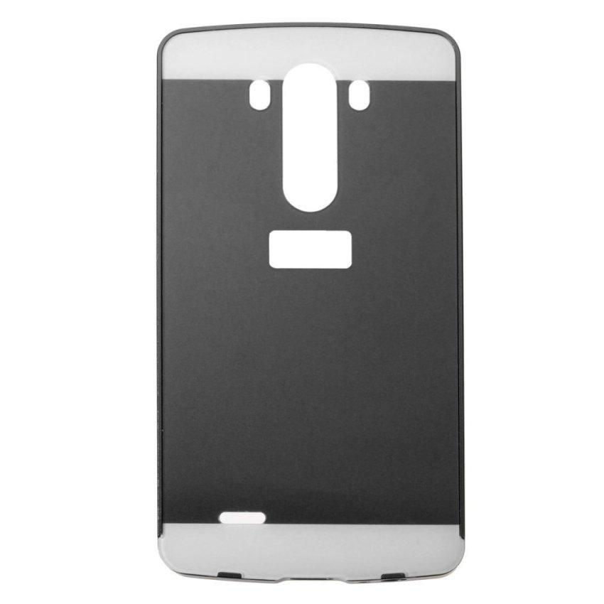 Alluminio Metallo Frame Bumper + Hard Custodia Cover Case for LG G3 D855 D850 (Black) (Intl)