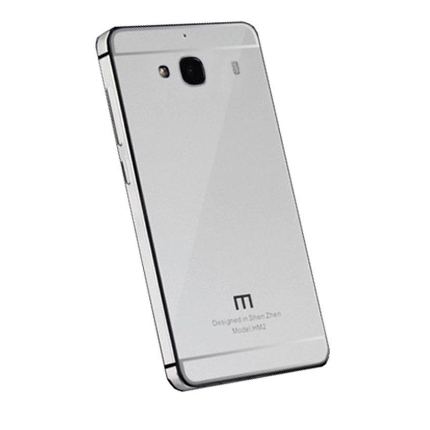 Aluminium Tempered Glass Hard Case Xiaomi Redmi2 Prime - Silver
