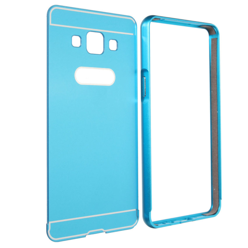 Aluminum Metal Frame PC Back Case for Samsung Galaxy A5 (Blue) (Intl)
