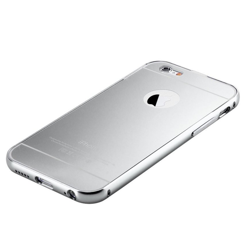 Aluminum Ultra-thin Mirror Metal Case for iPhone 5 5S Silver(INTL)